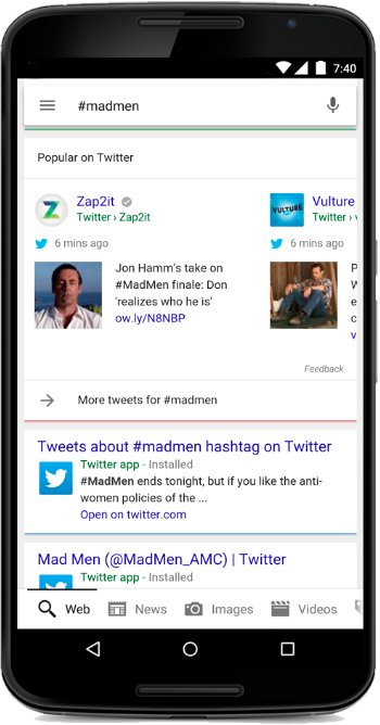 google and twitter partnership example