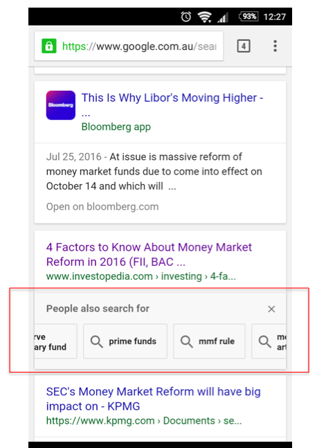 Google Back Button Behavior Triggers People Also Search For Carousel in mobile search