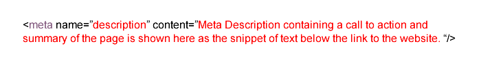 Meta Description Tag Code Snippet